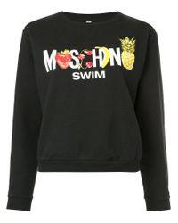 Moschino Black Logo Patch Sweater