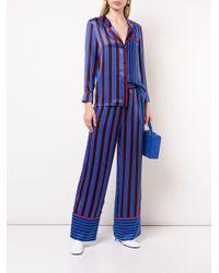 Pantalon de pyjama à rayures Alice + Olivia en coloris Blue