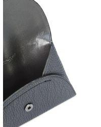 COACH - Gray Porte-cartes à rabat boutonné for Men - Lyst
