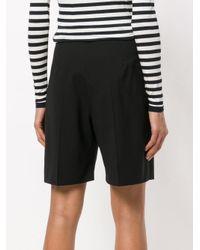 Max Mara Black Pleated Shorts