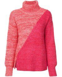 10 Crosby Derek Lam Red Bi-color Turtleneck Sweater
