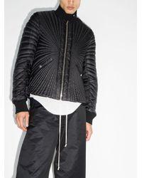 Rick Owens Black Zip-up Short Padded Jacket for men