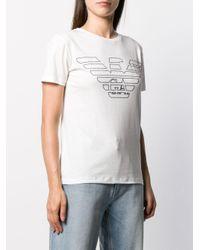 Emporio Armani プリント ロゴ Tシャツ White
