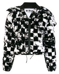 Versus  - Black Cropped Heck Jacket - Lyst