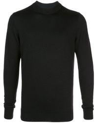 Maglione aderente di Sunspel in Black da Uomo