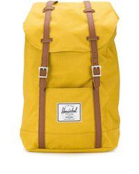 Herschel Supply Co. Yellow 'Retreat' Rucksack mit Kontrastriemen