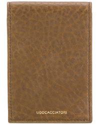 Porte-cartes à rabat Ugo Cacciatori en coloris Brown