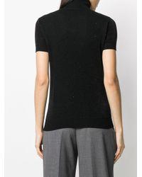Trussardi Black Short Sleeve Roll Neck Top