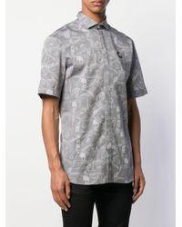 メンズ Philipp Plein Skull Dollar プリントシャツ Gray