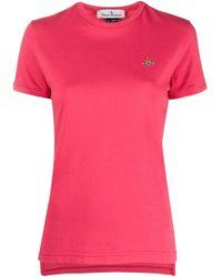 T-shirt à logo brodé Vivienne Westwood en coloris Red
