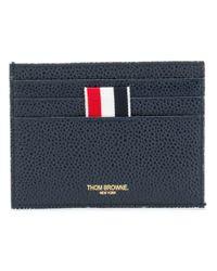 4-Bar Edge Stain Note Cardholder Thom Browne pour homme en coloris Blue