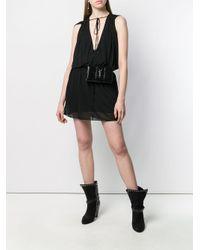 Saint Laurent Vネック ドレス Black