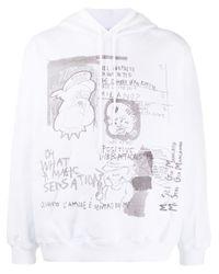 Felpa con stampa di MSGM in White da Uomo