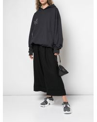 Y's Yohji Yamamoto クロップド ワイドパンツ Black