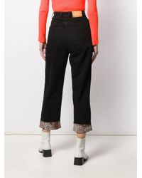 Jeans crop a vita alta di Golden Goose Deluxe Brand in Black