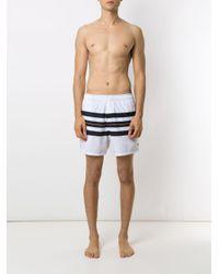 Costume da bagno Longboard a righe di Osklen in White da Uomo