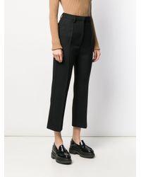 Pantalon crop classique MM6 by Maison Martin Margiela en coloris Black