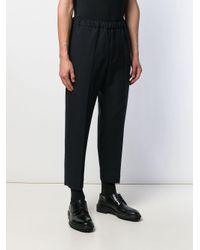Pantalon à taille élastiquée Jil Sander pour homme en coloris Blue