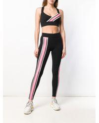 Pantaloni sportivi con dettaglio a righe di No Ka 'oi in Black