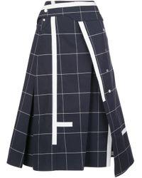 3.1 Phillip Lim チェック スカート Blue