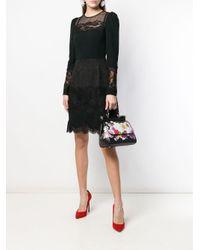 Borsa tote Bouquet di Dolce & Gabbana in Black