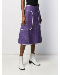 Юбка Миди В Клетку Sofie D'Hoore, цвет: Purple