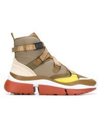 Chloé - Green Sonnie Sneakers - Lyst