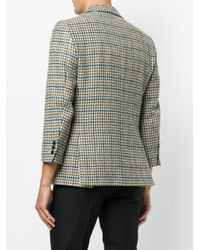 Raf Simons - Multicolor Houndstooth Pattern Blazer for Men - Lyst