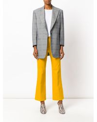 Tory Burch - Yellow Front Zipped Trousers - Lyst