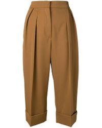 Max Mara Brown Capra Cropped Trousers