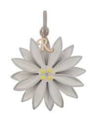 Breloque fleur Raf Simons en coloris White