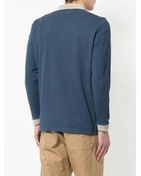 メンズ Kent & Curwen ロングスリーブ ポロシャツ Blue