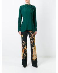 N°21 Black Floral Print Trousers