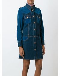See By Chloé   Blue Paneled Denim Dress   Lyst