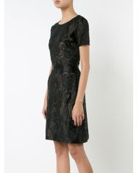 Notte by Marchesa | Black Embroidered Dress | Lyst