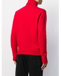 メンズ Raf Simons タートルネックセーター Red