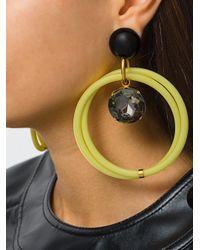 Marni - Metallic Ring Clip On Earrings - Lyst