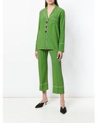 N°21 Green Mandarin Pyjama Style Shirt