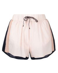 The Upside Pink Colour-block Shorts