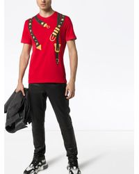 Футболка С Принтом Versace для него, цвет: Red