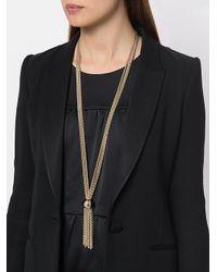 Lanvin Metallic Multiple Strand Tassel Necklace