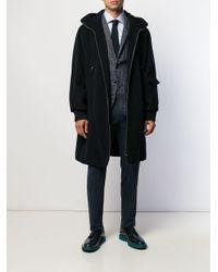 メンズ Barena オーバーサイズ フーデッドコート Blue