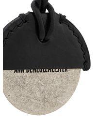 Ann Demeulemeester Anhänger mit graviertem Logo in Black für Herren
