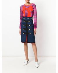 Manoush Blue Army Skirt