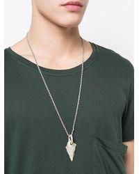 Parts Of 4 - Metallic Arrowhead Pierced Amulet Necklace - Lyst