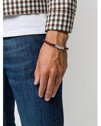 Ferragamo - Brown Braided Press Clasp Bracelet for Men - Lyst