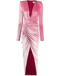 Alexandre Vauthier ベルベット ドレス Pink