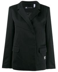 Adidas Black Oversized Sporty Blazer