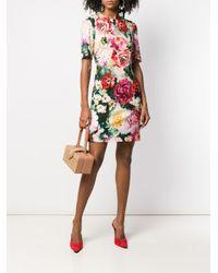 Dolce & Gabbana Pink Floral Print Dress