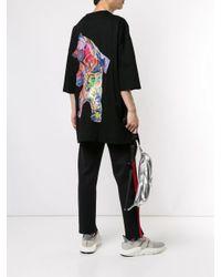 T-shirt à imprimé graphique Juun.J pour homme en coloris Black